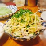 ふじ屋 - ◆酢モツ :490円 色んな部位のモツが入ってました。 たっぷりどっさりの茗荷と生姜の千切りでとっても好み。ポン酢でさっぱりと頂ける一品。