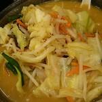 幸楽苑 - 娘が食べた野菜味噌ラーメン