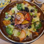 銀座カフェビストロ 森のテーブル - 野菜のデトックス薬膳酵素カレー