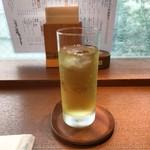 udondyayatsudura - 冷たい緑茶。             美味し。