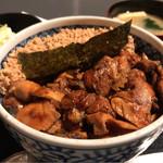 芝の鳥一代 - 名物!!きじ焼き丼 750円。