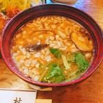 松村 - 豚汁に変更ですよ✨熱々なのでやけどしました。(●^o^●)       口の上やけど❗(///ω///)♪
