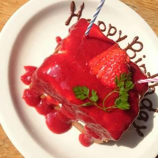 【お誕生日の方】バースデーワッフルご予約承ります♪