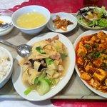 6747857 - 日替りランチとマーボ豆腐
