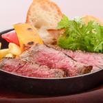 ステーキ&ビア ビストロ・パプリカ - 山形牛赤身(シンシン、カメノコ)