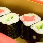 和泉鮨 - 巻物。鮪、いいですね