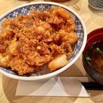 どんぶり丸福 - 海老のかき揚げ丼880円