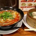 中華あんかけ工房 東陽閣 - 酸辣湯麺を焼売、ライス(小)のセットで