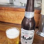 亀戸餃子 - ビール(小)