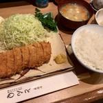 とんQ - 「ヒレカツ定食」(1950円)