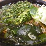 名代 富士そば - 春菊天ぷら蕎麦