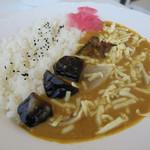 SunQ - 料理写真:ナスチーズカレーライス