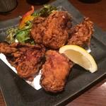 博多水炊き 大和 - 鶏もも肉の唐揚げ