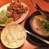 天下一品 - 料理写真:鶏のからあげ定食[こってり](ラーメンを小に変更)[\769]