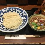 うどん棒 - オリーブ牛つけ麺(冷)930円