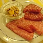 イタリア料理屋 タント ドマーニ - サービスの生ハム