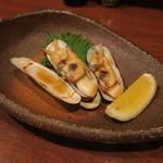 八お野 - あげ巻貝の正油焼き
