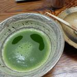 祇園 なん波 - 抹茶で〆ました。