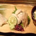 鮨や ねこなかせ - 造り三種盛り合わせ