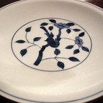 蕎麦 惠土 - なんとも美しい磁器