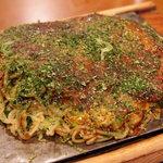 お好み焼風里古 - 尾道焼(砂肝、そば半玉プラス)