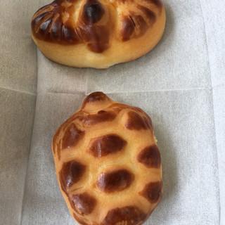 元祖亀まんじゅう かめや本店 - 料理写真:亀まんに鶴まん(2017.05現在)