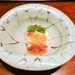 神楽坂 石かわ - 毛蟹とアスパラ
