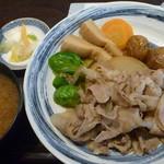 にんぎょう町 谷崎 - 季節野菜と豚大根煮 税込1000円