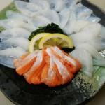 目黒のさんま 菜の花 - 宮城サーモンと釜石水だこのしゃぶしゃぶ