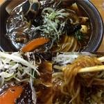 元気屋 - 五目野菜らーめん(あんかけ仕様で醤油)850円