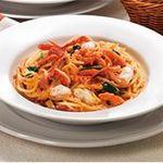 海老と紅ずわい蟹のトマトクリームスパゲティ