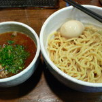 白ひげ - つけ麺+味玉