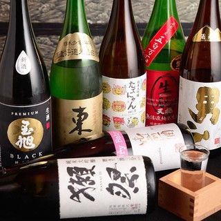 新酒続々入荷!日本酒常備50種以上揃えてます