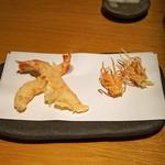 石臼挽き手打蕎楽亭 - 天ぷら 才巻海老 と その脚