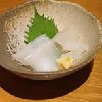 石臼挽き手打蕎楽亭 - アオリイカの刺身