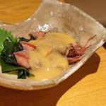 石臼挽き手打蕎楽亭 - ホタルイカ 酢味噌で