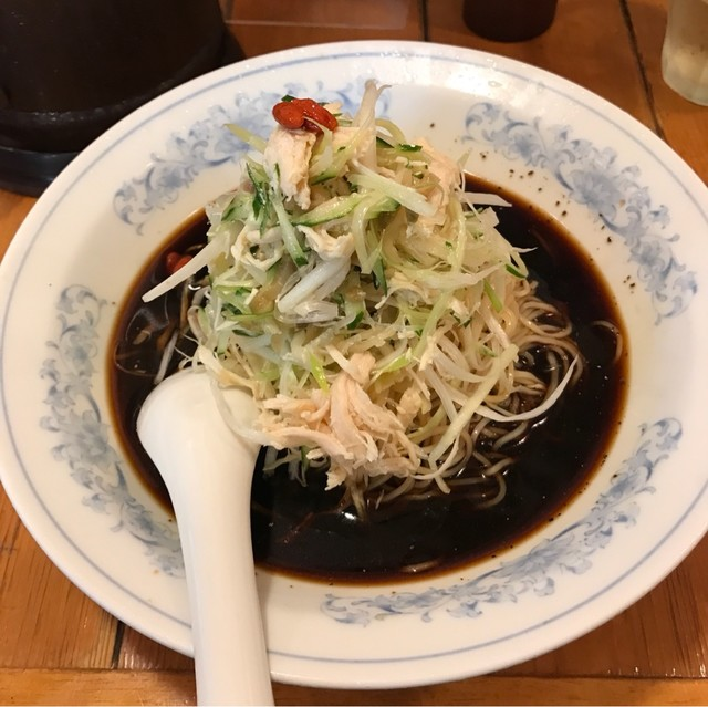中国ラーメン揚州商人 池袋西口店 - 冷し黒酢麺。 税込910円。 美味し。