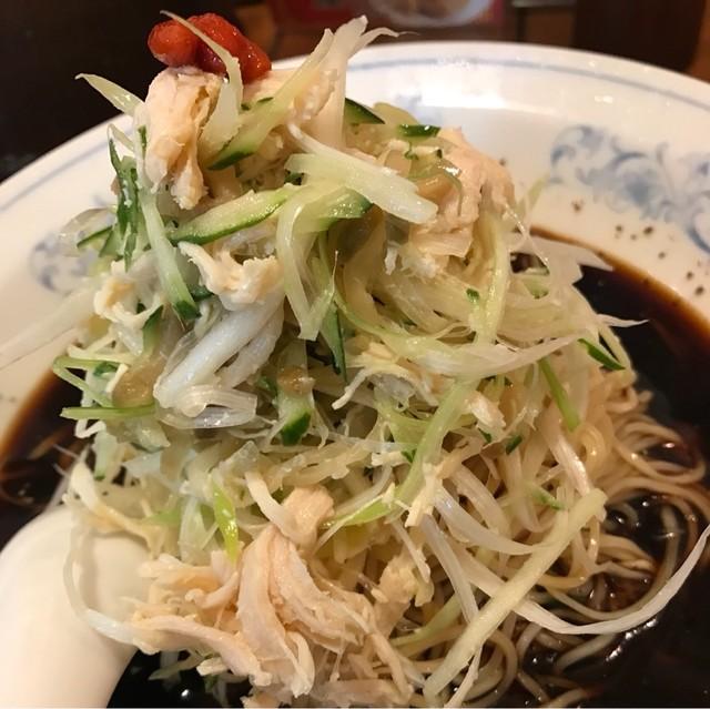 中国ラーメン揚州商人 池袋西口店 - 冷し黒酢麺。 美味し。