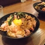 ひだまり庵 - 三種盛り肉丼