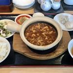 67521071 - 麻婆豆腐ランチ、918円です。