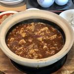 67521072 - 土鍋熱々麻婆豆腐です。