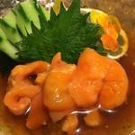 かきと旬鮮料理とおそば 開 - 橋痩せの赤ホヤ酢