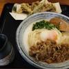 讃岐絢うどん - 料理写真:肉温玉ぶっかけ(冷)@880&まいたけ天200