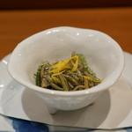 鮨 おさむ - じゅんさい、海ブドウ