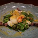 鮨 おさむ - お寿司屋さんのサラダ