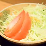 サングリア - 煮込みハンバーグ定食のサラダ