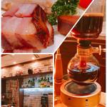 カフェ&バー ウミノ - 燻製盛り  バックバー  サイフォン