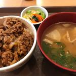 すき家 - 牛丼とん汁おしんこセット