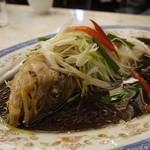 華錦飯店 - ハタのネギ生姜蒸し