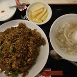 華錦飯店 - 海鮮黒チャーハン